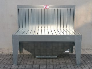Benches and exhaust arms